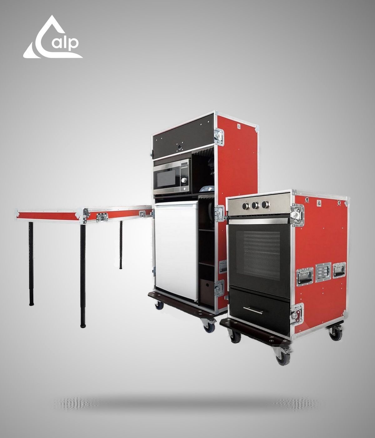 Flight case catering type cantine mobile, event, spectacle, industrie