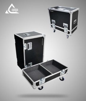 Flight case pour deux enceintes D&B DVXD 12 HP version touring