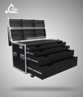 Flight case type Tool case light sur mesure 4 tiroirs