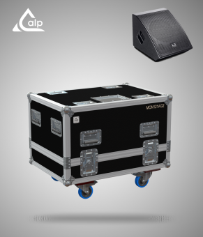 Flight case pour 2 Wedges LD Systems MON 121 A G2 version touring