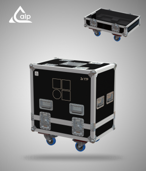 Flight case pour deux enceintes D&B Y7P version touring Fly case for 2 speakers D&B D&B Y7P