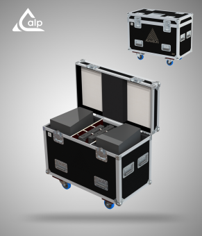 Flight case pour 2 enceintes ADAMSON S7P, bac à accessoires version touring Fly case for 2 speakers ADAMSON S7P