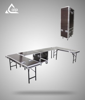 Flight case concept stand Event all in one