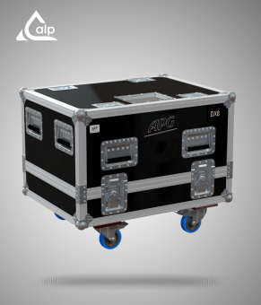 Flight case pour 4 enceintes APG DX8 version touring