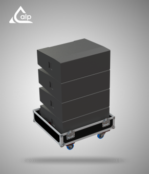 Flight case pour stack de 4 boites DLA 10 Audio Performance