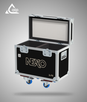 Flight case pour 2 enceintes P8 NEXO version touring Fly case for 2 speakers P8 NEXO