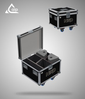 Flight case pour 4 X PS 8 NEXO R2 version touring