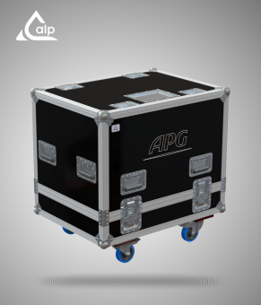 Flight case pour 2 enceintes APG DX 12 version touring