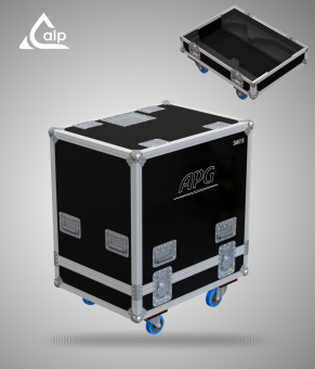 Flight case pour 2 enceintes APG SMX 15 version touring