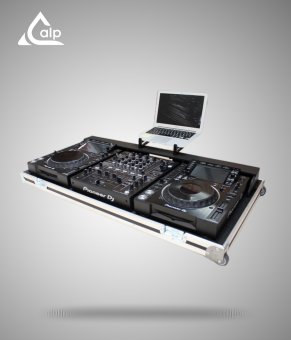 Flight case régie pour 2 CDJ2000 NX2, 1 DJM900 NX2 Fly case for Pioneer CDJ and DJM Nexus 2