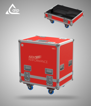 Flight case pour 2 enceintes Audio Performance KM12 version touring Fly case for 2 speakers Audio Performance KM12