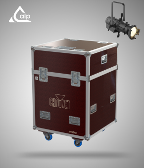 Flight case pour 4 découpes CHAUVET E- 910FC 25°-50° lens version TOURING Fly case for 4 CHAUVET E- 910FC 25°-50° lens