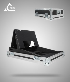 Flight case pour console Chamsys magicQ PC Wing compact, display