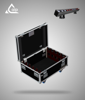 Flight case pour 10 barres COLORado Batten 72 CHAUVET version touring Fly case for 8 CHAUVET COLORado Batten 72