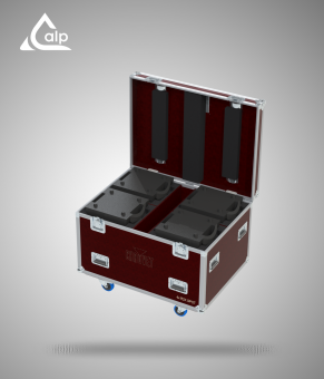 Flight case pour 2 automatiques Robe Pointe version touring Fly case for 2 Robe Pointe