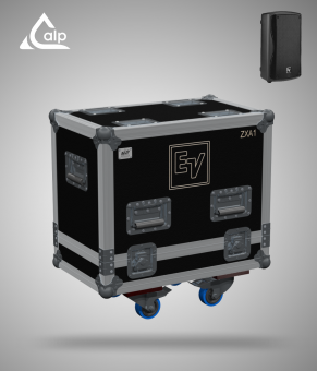 Flight case pour 2 enceintes ELECTRO VOICE ZXA1 version touring Fly case for 2 speakers ELECTRO VOICE ELXZX A1