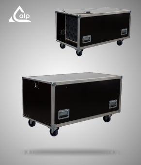Flight case type malle de transport pour 20 pieds micros type Speedy-Box Fly case for 20 mics stand