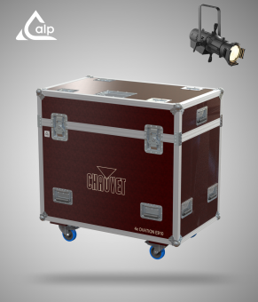 Flight case pour 4 découpes CHAUVET E- 910FC 14° lens  version TOURING Fly case for 4 CHAUVET E- 910FC 14° lens