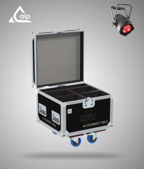 Flight case pour 4 Colorado 1 Solo CHAUVET version touring Fly case for 4 CHAUVET Colorado 1 Solo