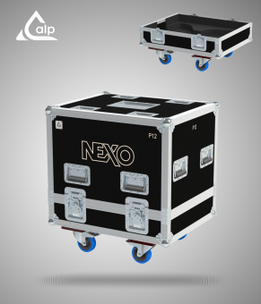 Flight case pour 2 X NEXO P2 version touring