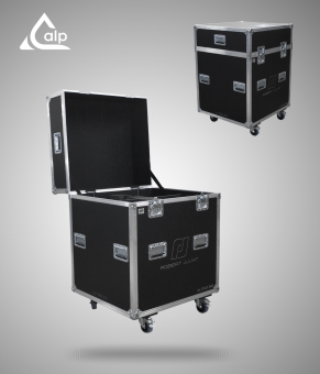 Flight case pour 4 découpes ROBERT JULIA 714 SX 2 version touring Fly case for 4 x ROBERT JULIA 714 SX 2