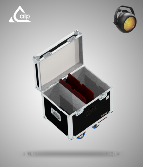 Flight case pour 2 Blinder Strike 1 CHAUVET version standard, bac à accessoires Fly case for 2 CHAUVET Strike 1