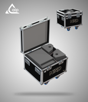 Flight case pour 2 PS 8 NEXO R2, 1 LS 400 version touring