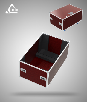 Flight case pour pupitre de conférence ADQ version Speedy Box