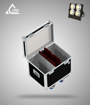 Flight case pour 2 Stage Binder Showtec version touring, bac à accessoires Fly case for 2 Stage Binder Showtec