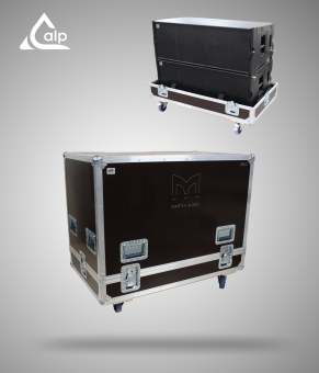 Flight case pour stack de 2 boites MARTIN AUDIO W8LC version touring