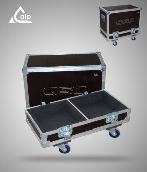 Flight case pour 2 enceintes QSC K8 version standard