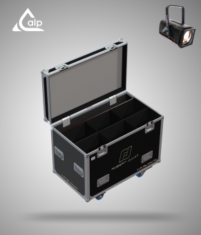 Flight case pour 6 ROBERT JULIA 306 LF version touring, bac à accessoires  Fly case for 6 ROBERT JULIA 306 LF