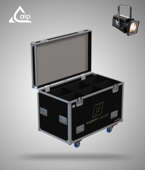 Flight case pour 6 ROBERT JULIA 310 HPC version touring, bac à accessoires  Fly case 6 ROBERT JULIA 310 HPC