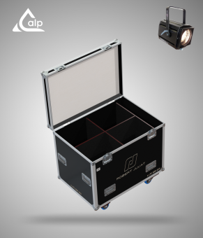 Flight case pour 4 ROBERT JULIA 329 HF version touring, bac à accessoires  Fly case for 6 ROBERT JULIA 329 HF