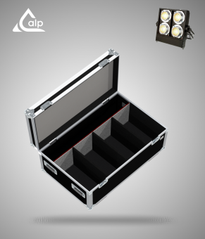 Flight case pour 4 Stage Binder Showtec version touring, bac à accessoires Fly case for 4 Stage Binder Showtec
